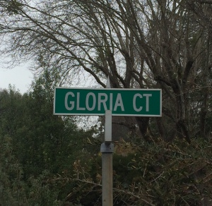 Gloria Court Sign for ads